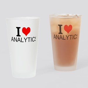 I Love Analytics Drinking Glass